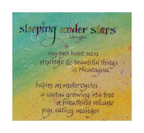 sleeping under stars - Detail
